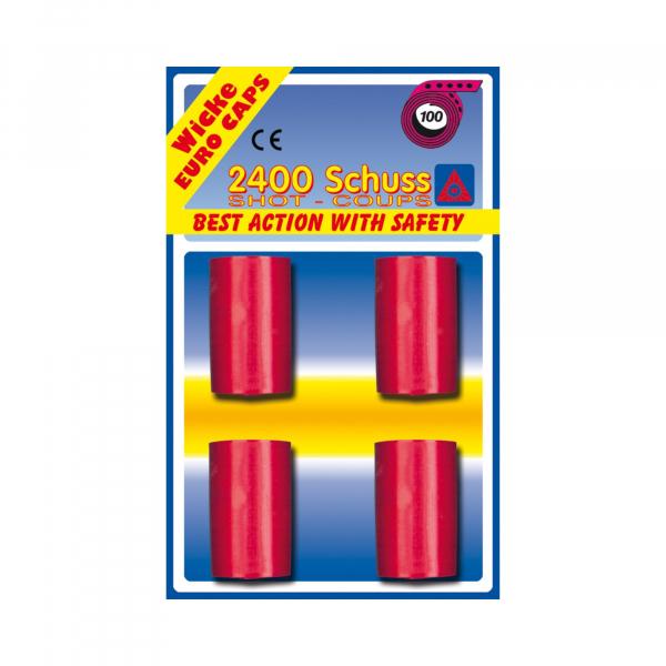 100-shot caps, 2000 shot, blister card