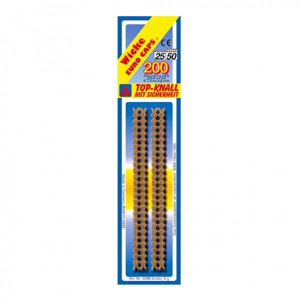 25/50-shot strip caps, 200 shot, blister card