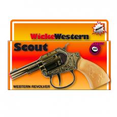 Scout 100-shot pistol, Western 135mm, box, metal