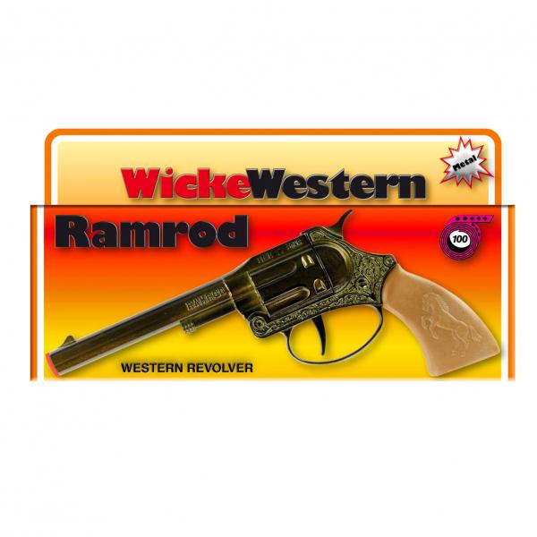 Ramrod 100-shot pistol, Western 178mm, box, metal