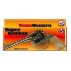 Super Cowboy 12-Schuss Pistole, Western 230mm, Box