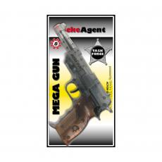 Mega Gun 8-Schuss Pistole, Agent 240mm, Blisterkarte