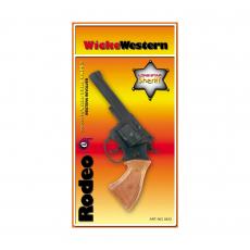 Rodeo 100-Schuss Pistole, Western 198mm, Blisterkarte