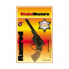 Ramrod 100-shot pistol, Western 178mm, blister card, metal