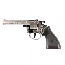 Ringo 8-Schuss Pistole Chrom, Western 198 mm, Karte