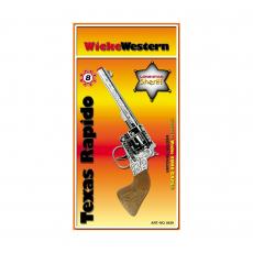 Texas Rapido 8-Schuss Pistole, Western 214mm, Blisterkarte
