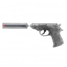 Special Agent PPK 25-shot pistol with muffler, blister card