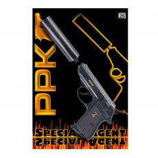 Special Agent PPK 25-Schuss Pistole, Schalldämpfer, Karte
