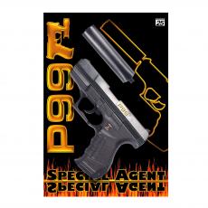 Special Agent P99 25-Schuss Pistole, Schalldämpfer, Karte