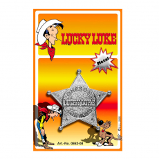 Lucky Luke Sheriff-Star, blister card