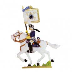 Reiter mit Fahne