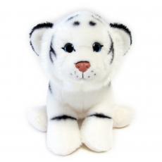 Tiger weiß sitzend 25cm