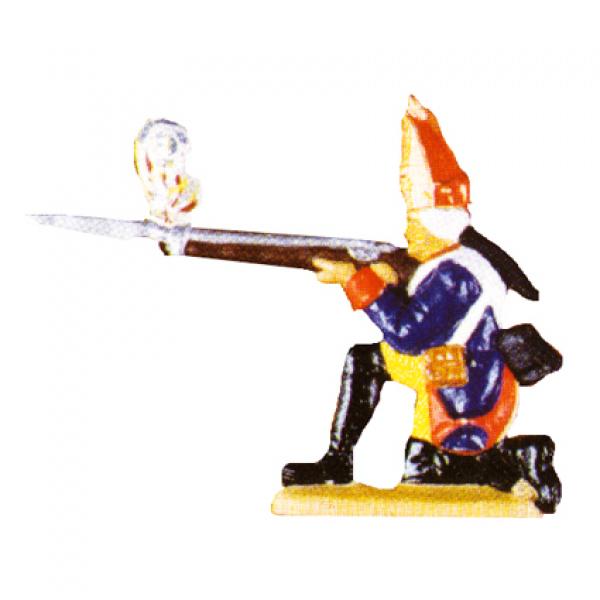 Grenadier kniend, schießend