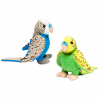 Budgerigar 14cm, 2-coloured ass., with sound