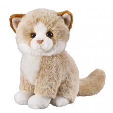 Katze beige 18cm, sitzend