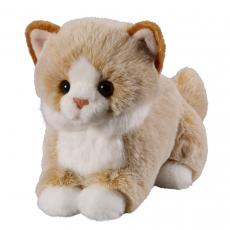 Katze beige 18cm, liegend