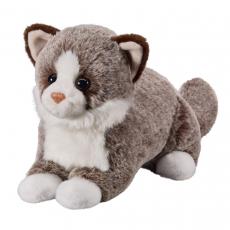 Cat dark brown 25cm, lying
