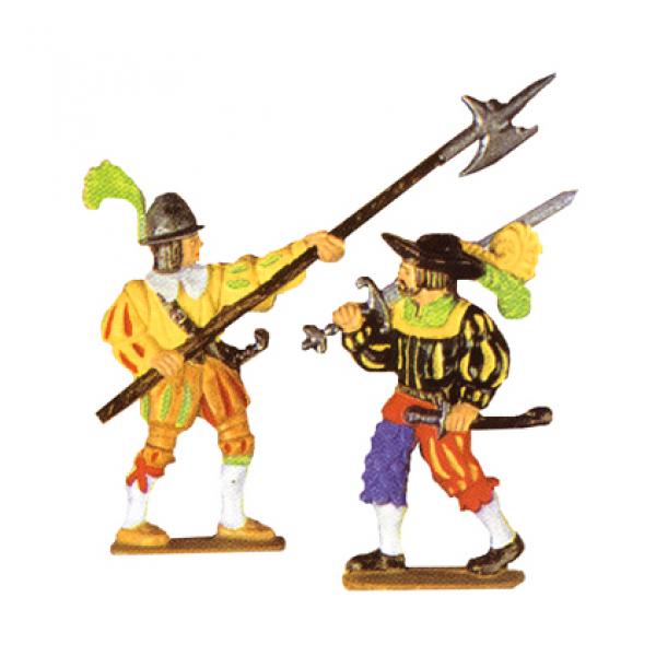 Hellebardier und Landsknecht