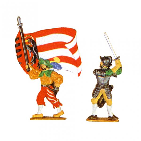 Fahnenschwinger und Schwertkämpfer