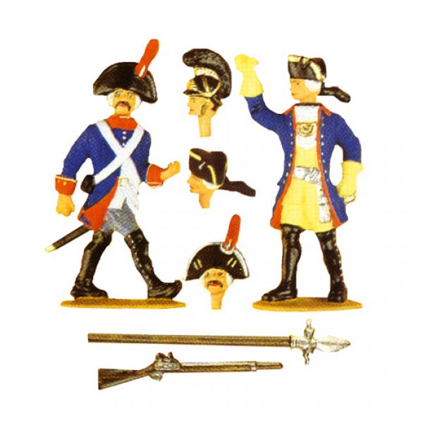Infanterieoffizier und Musketier