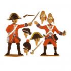 Grenadier werfend und Offizier