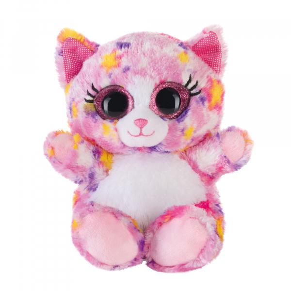 Lashy Katze pink/bunt 15cm