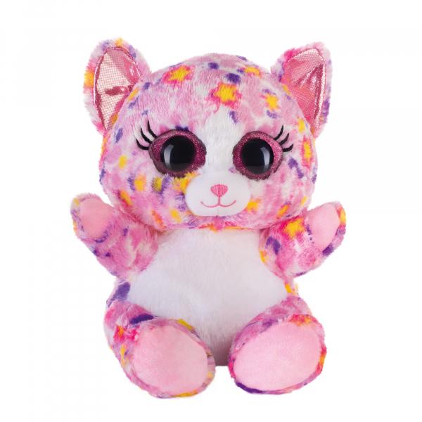 Lashy Katze pink/bunt 20cm
