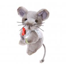 Mouse grey 13cm, sitting