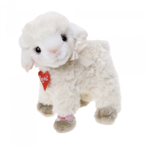 Lamb 15cm standing, curly
