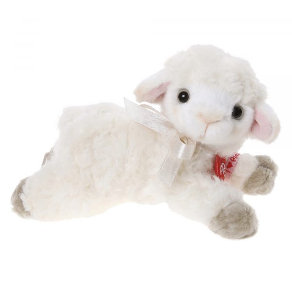 Lamb 15cm lying, curly