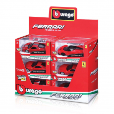 Ferrari R&P 1:43 with Pull-Back, WB, 12er Display