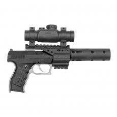 PB 001 29cm, 2x13-Schuss, mit Schalldämpfer und Zielfernrohr, Blisterkarte