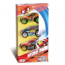 NXS Racers 7,5 cm, 3er Pack High-Speed Pull-back