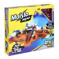 """Quads Race"", inkl. 1x ATV, 1x Spiel-Brett und 450g Sand"