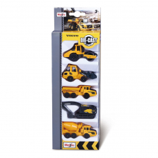 Volvo building vehicles 8cm, 5x Set, WB with Header