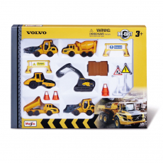 Volvo building vehicles 8cm Playset with 6 vehicles
