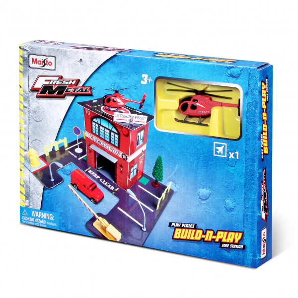 Build-N-Play Set 3-fach sort. (Police, Fire, Hospital)