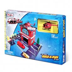 Build-N-Play Set 3-fach sort. (Police, Fire, Hospital)
