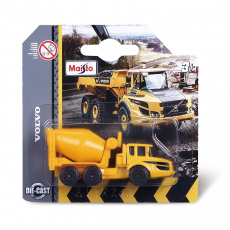 Volvo Building vehicles 8cm, 8x ass., Blister