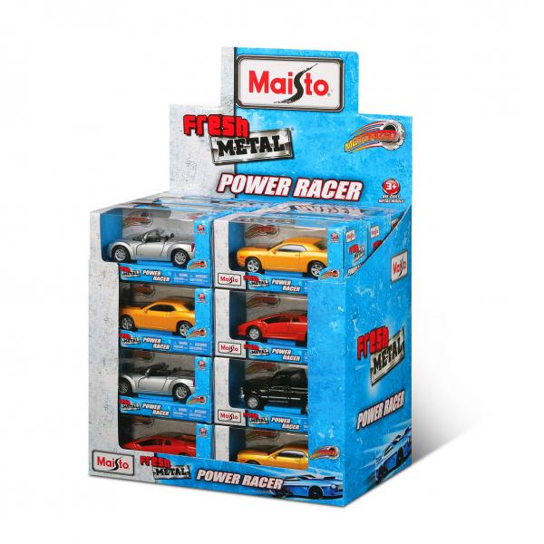 Power-Racer 12cm cars, Pull-back, 24pcs Display