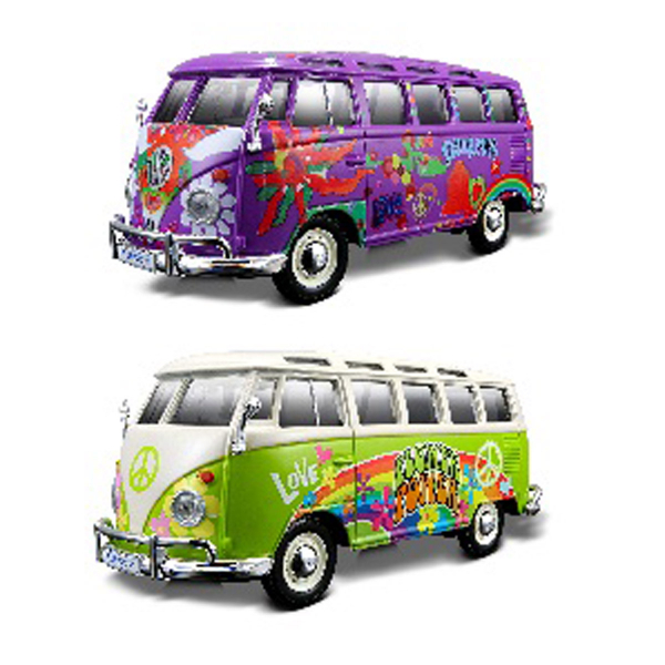 VW Bus Samba 2-colour ass.