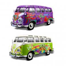 VW Bus Samba 2-farbig sort.