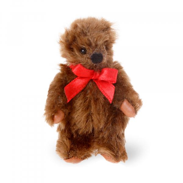 Mohair-Flexible Bear dark brown 8cm