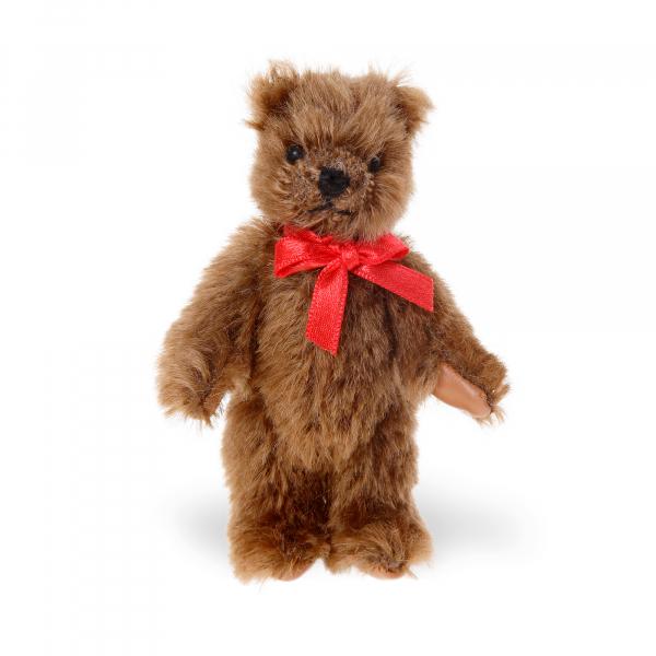 Mohair-Flexible Bear dark brown 10cm