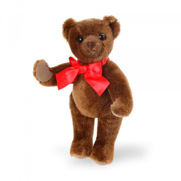 Mohair-Flexible Bear dark brownn 25cm
