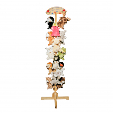 Wooden rack 198cm for 18pcs