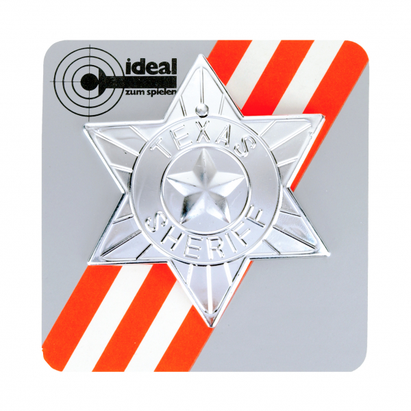 Sheriff-Star, on card