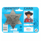 Sheriff-Star antique, on card