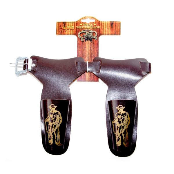 """Gürtel """"Cowboy"""", 60-90cm, 2 Taschen, Tester aus Pappe"""