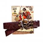 Pirate belt, L 115-125cm, W 4cm, on card